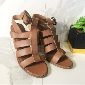 Urban Outfitters Brown Strappy Heeled Sandals